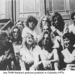 lata 70-80 Studenci podczas praktyki w Gdańsku 1973r