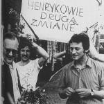 lata 70 praktyki studenckie w Henrykowie Powitanie prof. Kruszelnickiego po prawej obecny prof. Józef Poklewski (FILEminimizer)
