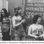 lata 70 praktyki w Henrykowie Pożegnanie prof. Mariana Kutznera